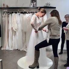 Bridal gown in Progress 💫⠀⠀⠀⠀⠀⠀⠀⠀⠀ Toutes nos robes sont fabriquées dans notre atelier Parisien, à la main, dans des dentelles françaises et des tissus nobles. #LaMarieeByChantalTemam⠀⠀⠀⠀⠀⠀⠀⠀⠀⠀⠀⠀⠀⠀⠀#ChantalTemamBrides ⠀⠀⠀⠀⠀⠀⠀